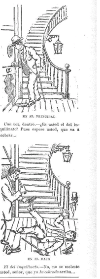 Chiste sobre las resistencias a cobradores publicado en El Mentidero