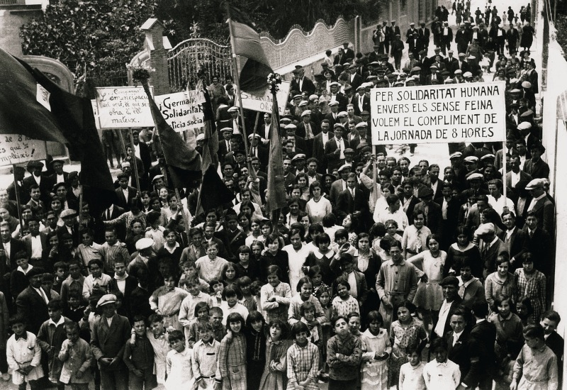 Manifestació 1 maig 1931 Sant Sadurní de Noia