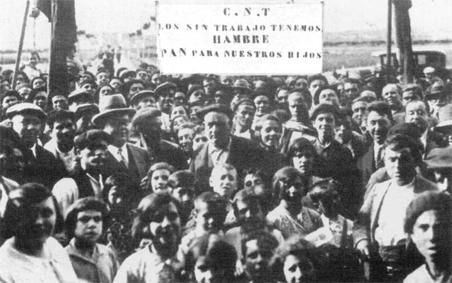 Manifestación parados anarcosindicalistaas Alto Aragón 1931