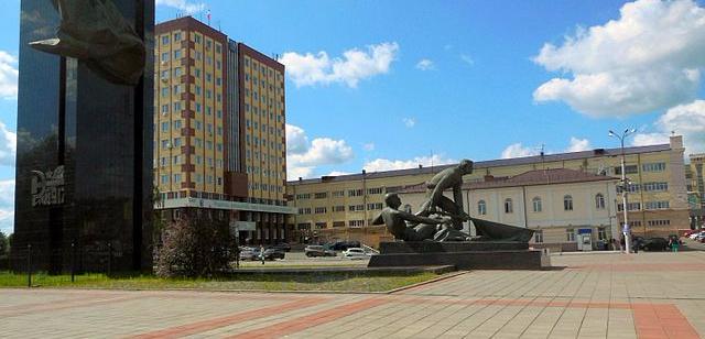 Plaza de la Revolución en la ciudad de Ivanovo.
