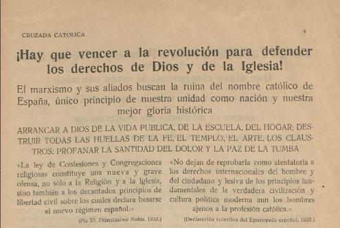 Cruzada Catolica 2-1936 Vencer a la revolución.png