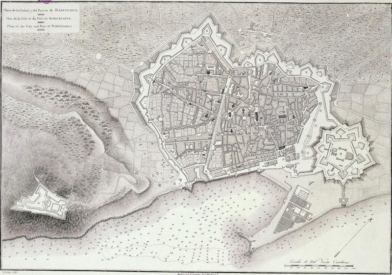 09-1806 Plano con Ciudadela y Barcelonata y Montjuic Castillo.jpg
