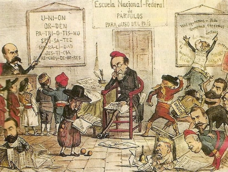 1º_república_española_La_Flaca_19th_century
