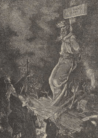 Giordano Bruno, quemado en la hoguera en Roma por la Inquisición el 17 de febrero de 1600.