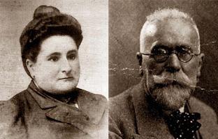 Teresa Mañé (Soledad Gustavo) y Joan Montseny (Federico Urales)