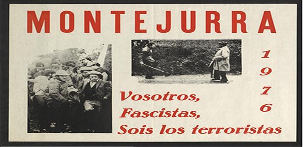 Cartell de el Partit Carlista recordant els successos de Montejurra