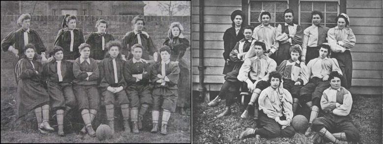 Los dos equipos que disputaron el partido de Crouch End en 1895.