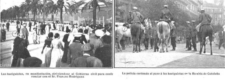 Imágenes de la huelga general del textil en 1913