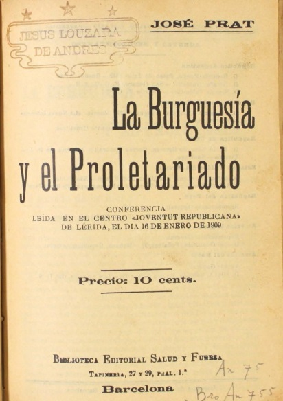 La Burguesia y el Proletariado