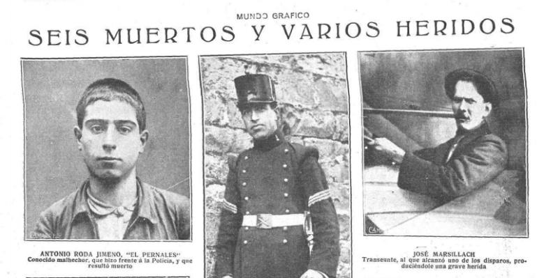 Algunas de las víctimas del tiroteo en las cercanías del Arc del Teatre.