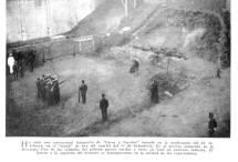 Foto tomada durante la ejecución del soldado Frías (1906)