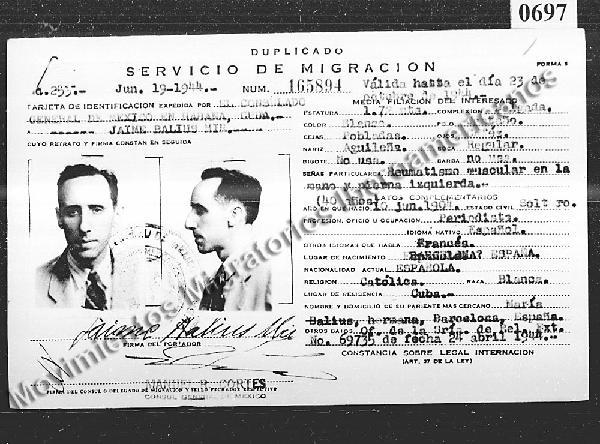 Registro de Inmigrantes Españoles en México. Copia Digital