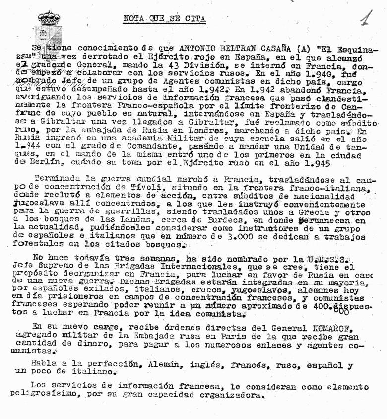 I. 5 Informe Beltrán